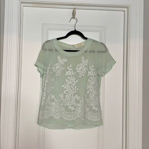 Francesca's Embroidered Blouse